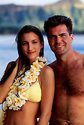Couple in Waikiki, Honolulu, Oahu, Hawaii