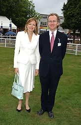 The EARL & COUNTESS OF WOOLTON at the King George VI and The Queen Elizabeth Diamond Stakes sponsored by De Beers held at Newbury Racecourse, Berkshie on 23rd July 2005.<br />