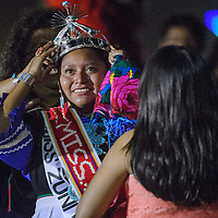 Tasha Yamutewa smiles as she is crowned Miss Zuni during the Zuni Fair Saturday in Zuni.
