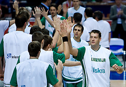 Goran Jagodnik (12) of Slovenia the EuroBasket 2009 Semi-final match between Slovenia and Serbia, on September 19, 2009, in Arena Spodek, Katowice, Poland. Serbia won after overtime 96:92.  (Photo by Vid Ponikvar / Sportida)