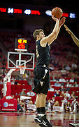 Nov 16, 2011; Fayetteville, AR, USA;  Oakland Grizzlies guard Travis Bader (3) takes a shot during a game against the Arkansas Razorbacks at Bud Walton Arena. Arkansas defeated Oakland 91-68. Mandatory Credit: Beth Hall-US PRESSWIRE