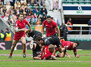 "Twickenham, Surrey United Kingdom. Action during the Pool C match, Canada vs New Zealand at the  ""2017 HSBC London Rugby Sevens"",  Saturday 20/05/2017 RFU. Twickenham Stadium, England    <br /> <br /> [Mandatory Credit Peter SPURRIER/Intersport Images]"
