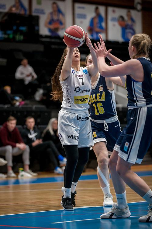 ÖSTERSUND 20200119<br /> Moa Edström under söndagens match i Basketettan mellan Östersund Basket och RIG Liuleå i Östersunds Sporthall.<br /> <br /> Foto: Per Danielsson/Projekt.P