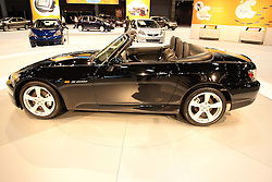 11 February 2009: 2009 HONDA S2000: Widely considered the quintessential roadster-style sports car, the S2000 is the performance icon for the Honda brand. As a true sports car the S2000 rewards driving enthusiasts with a potent 237 horsepower, 2.2-liter 4-cylinder engine and a precise, short throw 6-speed manual transmission, along with tenacious handling. The rear-wheel-drive chassis and powertrain layout results in a perfect 50/50 weight balance. Standard features include a power retractable convertible top, 17-inch aluminum alloy wheels, leather trimmed seats and High Intensity Discharge headlamps with daytime running lights. An aluminum hardtop and XM Satellite Radio are available as dealer installed options.. The Chicago Auto Show is a charity event of the Chicago Automobile Trade Association (CATA) and is held annually at McCormick Place in Chicago Illinois.