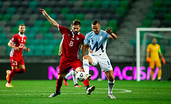 Catalin Carp of Moldova vs Jasmin Kurtic of Slovenia during the UEFA Nations League C Group 3 match between Slovenia and Moldova at Stadion Stozice, on September 6th, 2020. Photo by Vid Ponikvar / Sportida