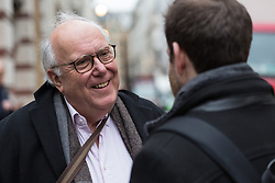Opera administrator Robert, 70, talks with Bild journalist Philip Fabian about Brexit in St James, London. London, January 16 2019.