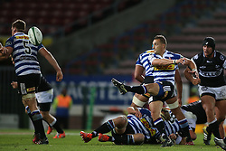 Dewaldt Duvenage of Western Province kicks cross field during the Currie Cup Premier Division match between the DHL Western Province and the Sharks held at the DHL Newlands Rugby Stadium in Cape Town, South Africa on the 3rd September  2016<br /> <br /> Photo by: Shaun Roy / RealTime Images