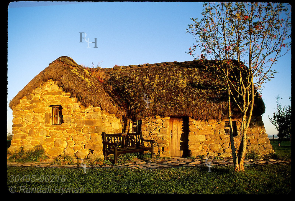 Old Leanach Cottage is the only building still standing from the time of the Apri 16, 1746 battle at Culloden Moor; Inverness, Scotland.