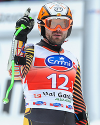 20.12.2013, Saslong, Groeden, ITA, FIS Ski Weltcup, Groeden, Herren, SuperG, im Bild Jan Hudec (CAN, 2. Platz) //2nd place Jan Hudec of Canada reacts at the finish area during mens Super-G of the Groeden FIS Ski Alpine World Cup at the Saslong Course in Gardena, Italy on 2012/12/20. EXPA Pictures © 2013, PhotoCredit: EXPA/ Johann Groder