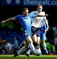 Photo: Ed Godden/Sportsbeat Images.<br /> Chelsea v Tottenham Hotspur. The FA Cup. 11/03/2007.<br /> Chelsea's Andriy Shevchenko (L), gets past Michael Dawson.