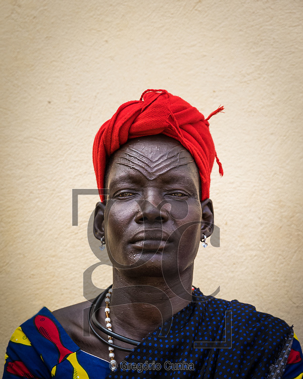 TEREKEKA, SOUTH SUDAN- 30 APRIL: A woman from the Mundari tribe, waits to be attended at the health centre of Terekeka. The village is located 100km north of Juba, the capital of South Sudan, Terekeka, April 30, 2021.<br />Photo Gregorio Cunha/UN