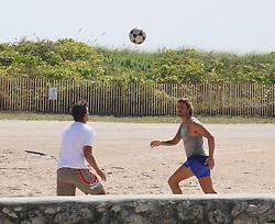 EXCLUSIVE: Davide Lippi play futvoley with some friends in Miami Beach. 03 Mar 2017 Pictured: Davide Lippi. Photo credit: OHPIX.COM / MEGA TheMegaAgency.com +1 888 505 6342