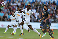 Tammy Abraham of Swansea city  (c) in action. Swansea city v Sampdoria , pre-season friendly at the Liberty Stadium in Swansea, South Wales on Saturday August 5th 2017.<br /> pic by Andrew Orchard, Andrew Orchard sports photography.