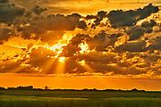 Clouds at sunriseover the Canadian prairie, Near Yorkton, Saskatchewan, Canada