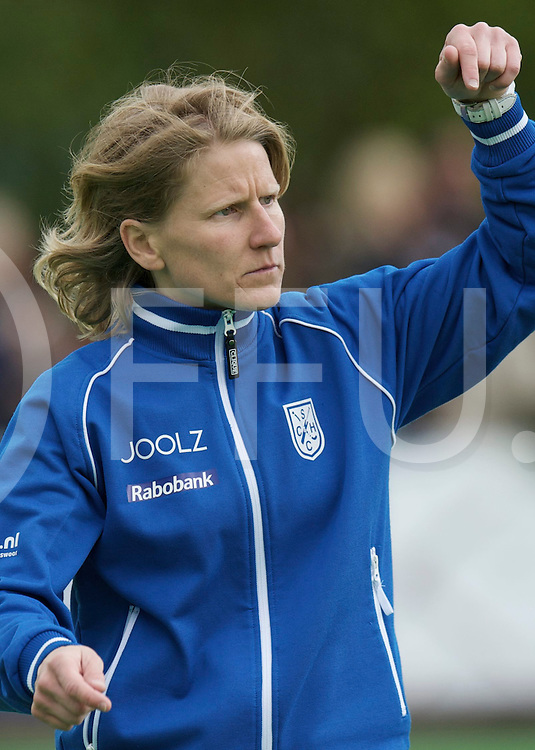 BILTHOVEN - SCHC v Amsterdam Dames<br /> Hoofdklasse dames Play Off<br /> Foto: SCHC coach Janneke Schopman<br /> FFU PRESS AGENCY COPYRIGHT FRANK UIJLENBROEK