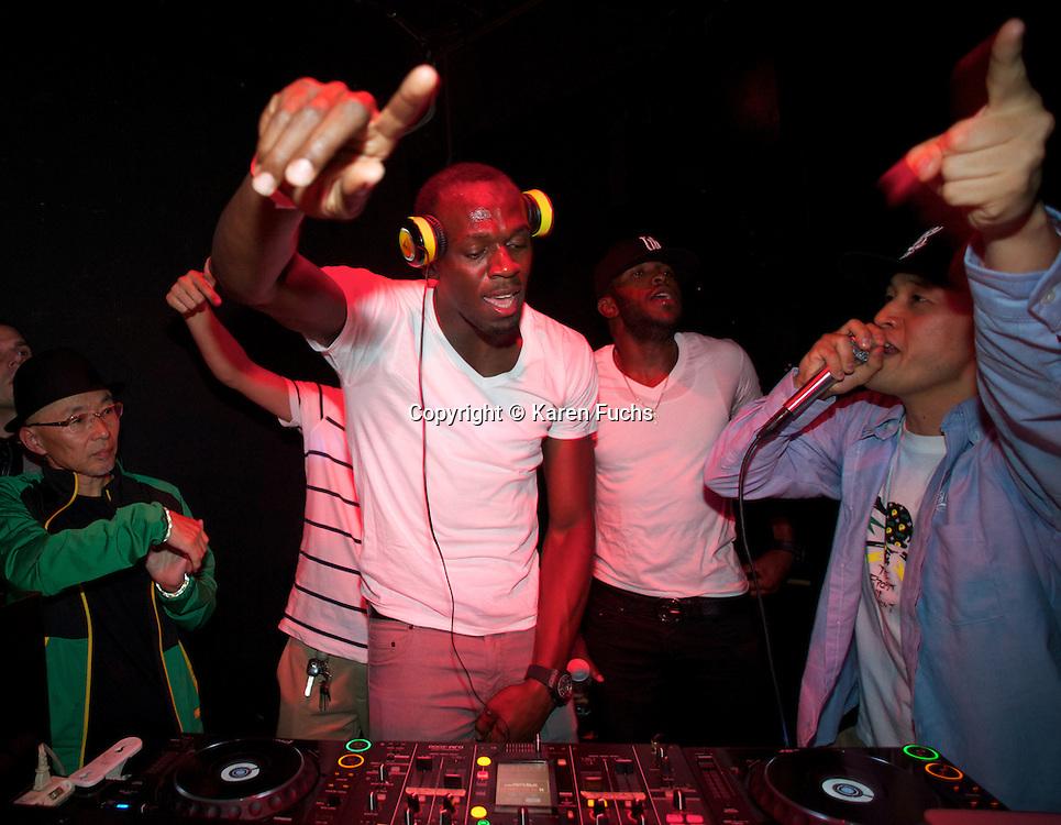 Usain Bolt dj at Club Le Baron Tokyo October'12