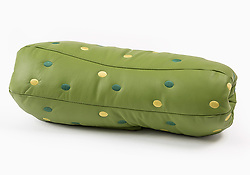 August 21, 2017 - Inconnu, inconnu - 21/08/2017 - Here's a tasty collection of upholstery and soft furnishings – in the shape of fast-food-inspired sofa and hamburger chair..And for garnish there are mouth-watering cushions shaped like slices of pickle and tomato..The Un-Limited Editions fast food furniture is a joint venture between Italian company Seletti and Belgium's Studio Job..It is said to marry the pop-spirit of the USA, with Seletti's passion for unconventional projects, and Studio Job's cheeky creative approach..In the set an open hot dog bun becomes the actual structure of a sofa and it hosts an upholstered sausage..The bun seat is in the shape of a hamburger, with a pickled cucumber armrest and a tomato slice back cushion..The leather and suede creations are on sale after being shown at the Maison and Object show in Paris..A spokesman said the series marks the italian brand's introduction to the world of upholstered furniture, ''amalgamating Studio Job's irreverent attitude and penchant for playfulness, with Seletti's accessible affordability. ''.OPS: The Un-Limited Editions fast food furniture. Pickle back rest cushion # INSOLITE - UNE COLLECTION DE MEUBLES APPETISSANTE (Credit Image: © Visual via ZUMA Press)