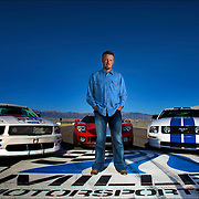 Greg Miller stands on the start/finish line at the Miller Motor Sports Park in Tooele, Utah Wednesday Sept. 3, 2008. Greg has been named as the successor to his father Larry H. Miller who is scaling back his role within the company that he founded. (August Miller)