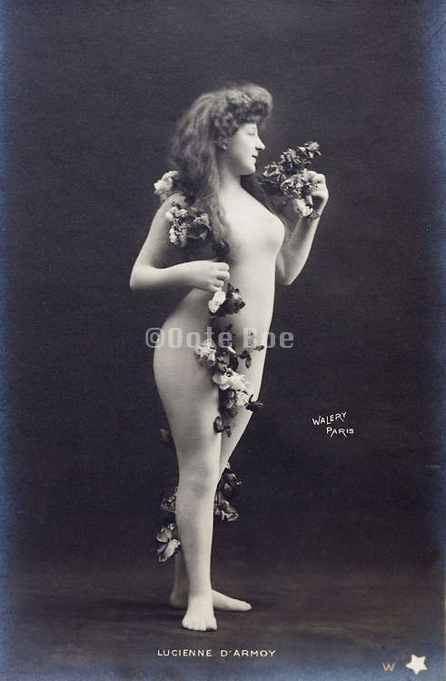 Lucienne D'Armoy, French Bodystocking Nude by Walery, circa 1905