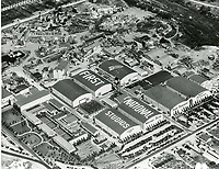 1929 Aerial photo of First National Studios, now Warner Bros. Studios