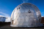 Caltech Submillimeter Observatory on the summit on Mauna Kea, The Big Island, Hawaii USA