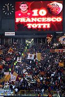 """AS roma fans with Totti portrait on the screen<br /> Tifosi della Roma con Totti sul tabellone <br /> Roma 24/2/2008 Stadio """"Olimpico"""" <br /> Campionato Italiano Serie A<br /> Roma Fiorentina (1-0)<br /> Foto Andrea Staccioli Insidefoto"""