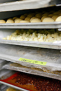 SHOT 1/11/11 4:21:15 PM - Trays of prepped food and ingredients at  Frasca Food and Wine in Boulder, Co. Frasca is a highly-rated neighborhood restaurant inspired by the cuisine and culture of Friuli, Italy. Historically found throughout Friuli, Frascas were friendly and informal gathering places, a destination for farmers, friends, and families to share a meal and a bottle of wine. Identified by a tree branch hanging over a doorway portal, they were a symbol of local farm cuisine, wine, and warm hospitality. (Photo by Marc Piscotty / © 2011)