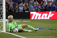 09 June 2011: Kansas City's Jimmy Nielsen makes a save. Sporting Kansas City played the Chicago Fire to a 0-0 tie in the inaugural game at LIVESTRONG Sporting Park in Kansas City, Kansas in a 2011 regular season Major League Soccer game.