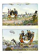 Punch Summer Number 1943. A Summer Morning on the London Road 1843 - and 1943.
