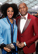 """April 3, 2017- Brooklyn, New York -United States: (L-R) Poet/Writer/Actress Sarah Jones and Author/Writer Charles Blow attends the The Seventh Annual Brooklyn Artists Ball honoring Alicia Keys and Kasseem """"Swiss Beatz"""" Dean held at the Brooklyn Museum on April 3, 2017 in Brooklyn, New York. The Brooklyn Artist Ball is the largest annual fundraising gala at the Brooklyn Museum, which celebrates Brooklyn's creative community and supports the institution's many programs. (Terrence Jennings/terrencejennings.com)"""