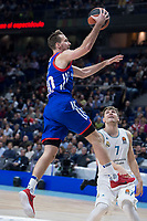 Real Madrid Luka Doncic and Anadolu Efes Zoran Dragic during Turkish Airlines Euroleague match between Real Madrid and Anadolu Efes at Wizink Center in Madrid, Spain. January 25, 2018. (ALTERPHOTOS/Borja B.Hojas)