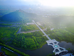 June 22, 2017 - Nanton, Nanton, China - Nantong, CHINA-June 2017: (EDITORIAL USE ONLY. CHINA OUT) The guitar-shaped scenic area...The Scenic Area of Wolf Mountains in Nantong, east China. (Credit Image: © SIPA Asia via ZUMA Wire)