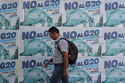 November 21, 2018 - Buenos Aires, Buenos Aires, Argentina - Posters calling for a protest against the G20 Leaders Summit are seen in downtown Buenos Aires. On November 20 and December 1, 2018, the G20 Presidents will meet in Buenos Aires. (Credit Image: © Patricio Murphy/ZUMA Wire)