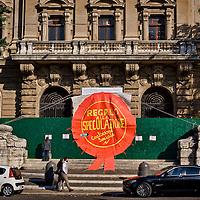 Protesta  di Action contro la vendita del Palazzo del Poligrafico