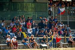 Belgian supporters<br /> European Championship Children, Juniors, Young Riders - Fontainebleau 1028<br /> © Hippo Foto - Dirk Caremans<br /> Belgian supporters