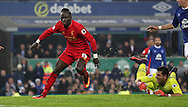 Sadio Mané of Liverpool celebrates scoring during the English Premier League match at Goodison Park, Liverpool. Picture date: December 19th, 2016. Photo credit should read: Lynne Cameron/Sportimage