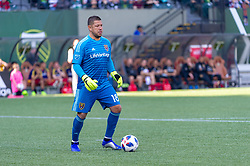 October 21, 2018 - Portland, OR, U.S. - PORTLAND, OR - OCTOBER 21, 2018: Real Salt Lake goal keeper Nick Rimando during the Portland Timbers 3-0 victory over Real Salt lake on October 21, 2018, at Providence Park in Portland, Oregon. (Photo by Diego Diaz/Icon Sportswire) (Credit Image: © Diego Diaz/Icon SMI via ZUMA Press)