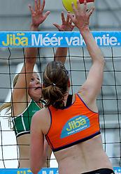 06-06-2010 VOLLEYBAL: JIBA GRAND SLAM BEACHVOLLEYBAL: AMSTERDAM<br /> In een koninklijke ambiance streden de nationale top, zowel de dames als de heren, om de eerste Grand Slam titel van het seizoen bij de Jiba Eredivisie Beach Volleyball - Elke Schuil-Wijnhoven<br /> ©2010-WWW.FOTOHOOGENDOORN.NL