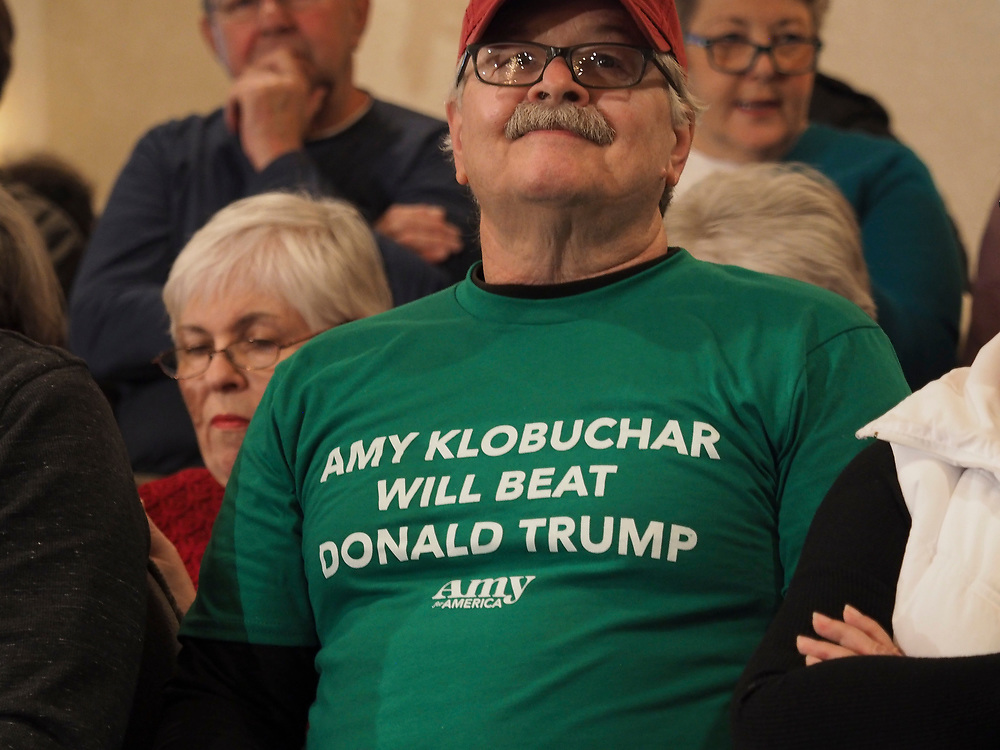 Amy Klobuchar supporter has no doubts on why he is supporting her.