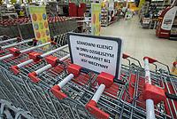 Bialystok, 11.03.2018. Pierwsza niedziela z obowiazujacym zakazem handlu N/z w CH Atrium Biala byly czynne sklepy , ktorych nie obowiazuje ustawa o zakazie handlu , lecz klientow nie bylo wielu; zamkniety hipermarket B1 fot Michal Kosc / AGENCJA WSCHOD