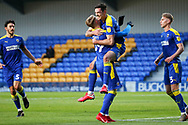 GOAL 2-1, AFC Wimbledon defender Ben Heneghan (22) during the EFL Sky Bet League 1 match between AFC Wimbledon and Bristol Rovers at Plough Lane, London, United Kingdom on 5 December 2020.