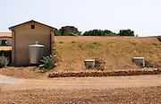 Domaine Mas Jullien, Jonquieres village. Terrasses de Larzac. Languedoc. The winery building. France. Europe.