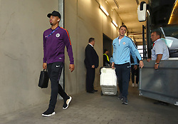 Manchester City's Gabriel Jesus arrives at the stadium ahead of the match