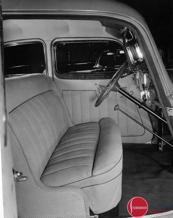 Studebaker factory photograph of a 1934 Land Cruiser interior.