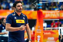 19-10-2018 JPN: Semi Final World Championship Volleyball Women day 18, Yokohama<br /> China - Netherlands / Coach Davide Mazzanti ITA