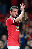 Juan Mata of Manchester United applauds the crowd at full time - Manchester United vs. Crystal Palace - Barclay's Premier League - Old Trafford - Manchester - 08/11/2014 Pic Philip Oldham/Sportimage