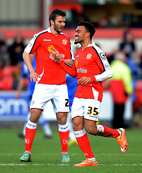 Crewe's Nicky Ajose celebrates scoring - Photo mandatory by-line: Richard Martin-Roberts - Mobile: 07966 386802 - 10/01/2015 - SPORT - Football - Crewe - Alexandra Stadium - Crewe Alexandra v Gillingham - Sky Bet League One