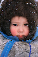Nenets child, Kánin Peninsula, Russia, Arctic
