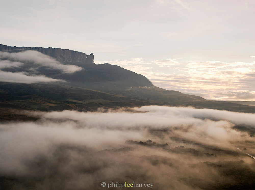 Low cloud and mist covers the landscape of the Gran Sabana, close to Mount Roraima in Venezuela