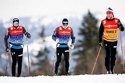 January 2, 2018 - Oberstdorf, GERMANY - 180102 Emil Iversen of Norway, Sindre BjÂ¿rnestad Skar of Norway and Tor-Arne Hetland, coach, during a training session in Tour de Ski on January 2, 2018 in Oberstdorf..Photo: Jon Olav Nesvold / BILDBYRN / kod JE / 160116 (Credit Image: © Jon Olav Nesvold/Bildbyran via ZUMA Wire)